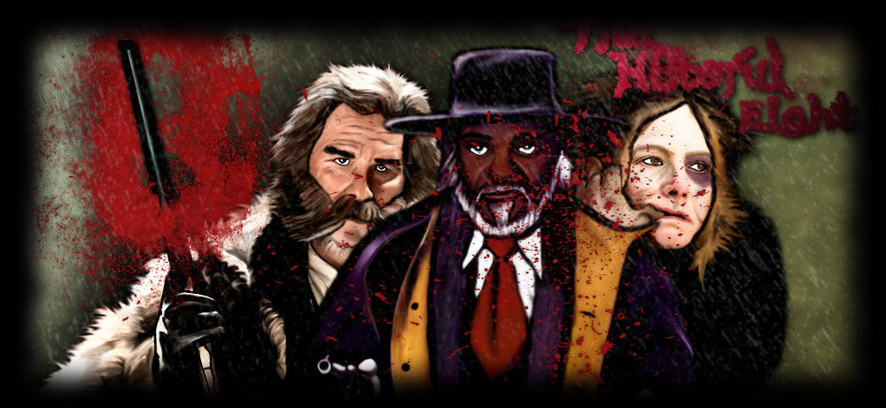 Dibujo de los protagonistas de The Hateful Eight