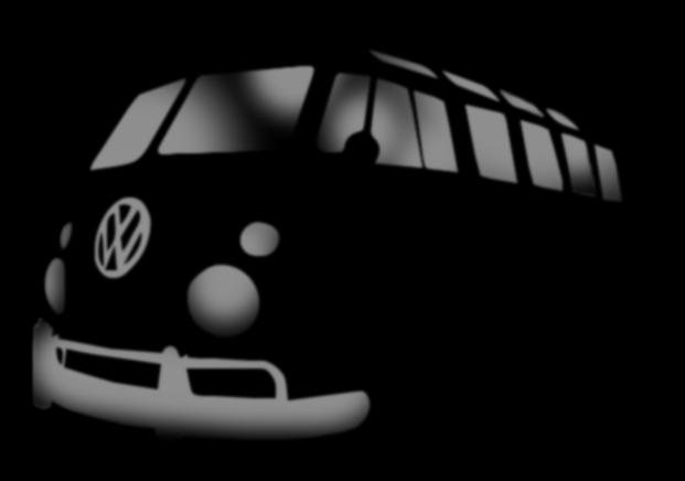 La Furgoneta De Los Hippies Vw Bus Samba