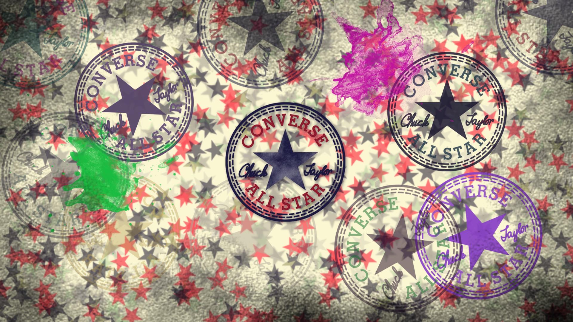 35bf2fd1b06 Artwork con el logo de Converse All Satar y la firma de Chuck Taylor