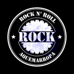 Logo simple en blanco sobre Rock N' Roll